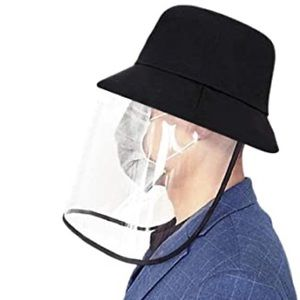 Other - Anti Saliva Protective Bucket Hat w/ Face Shield